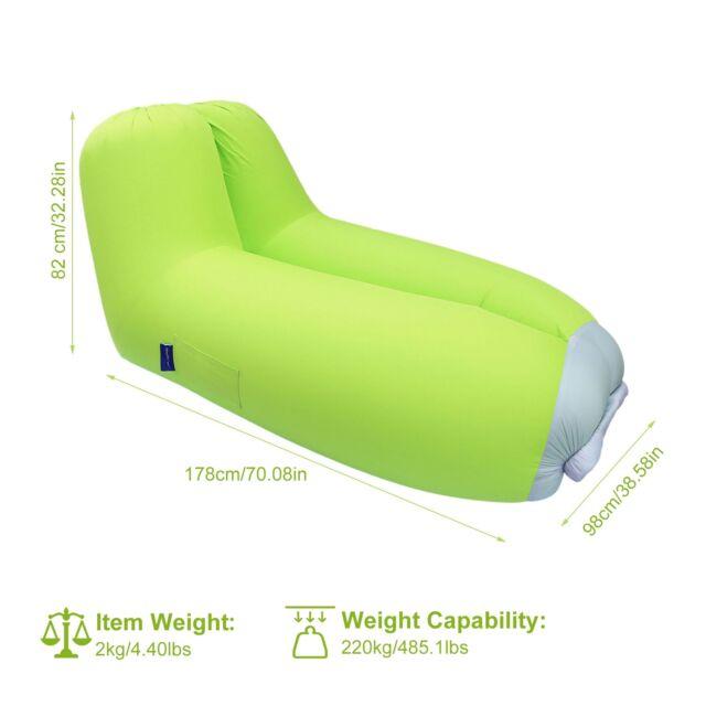 Air Chair Inflatable Sofa Air Bed Lounger Chair Sleeping Bag Mattress Seat Couch