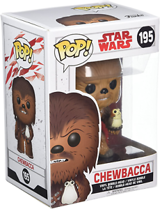 POP E8 TLJ Star Wars Figurines Chewbacca avec Porg