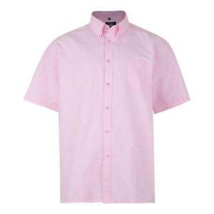New-Mens-Kam-Big-Tall-Size-Plain-Short-Sleeve-Shirt-oxford-Button-Down-dress