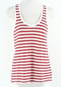 Madewell-XS-Cream-Red-Stripe-100-Cotton-Tank-Top-G075
