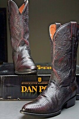 Dan Post Raleigh Lizard Boots Handcrafted Genuine Exotic Boots DP2352R Size 9 D | eBay