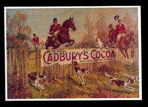 ad3923 - Cadbury's Cocoa - Horses & Hounds on Fox Hunt - Modern Advert postcard