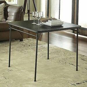 Cosco Dorel Industries Square Vinyl Top Folding Dining Or Card Table 34 Inch B