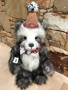 Giggleswick-1-Large-Standing-Plush-Charlie-Bears-Clown-Teddy-Bear-Collectable