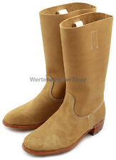 German marching high-boots Jackboots Marschstiefel WW2 leather nailed stamped