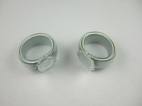 Lot 10-25pc Ton Argent Printemps Wire Ring base Blank Finding 18 mm US 8 Pad:12mm