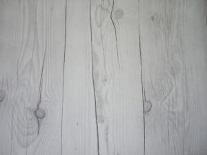 Legno Bianco Vintage : Sticky back self adhesive textured vintage white wood panel vinyl