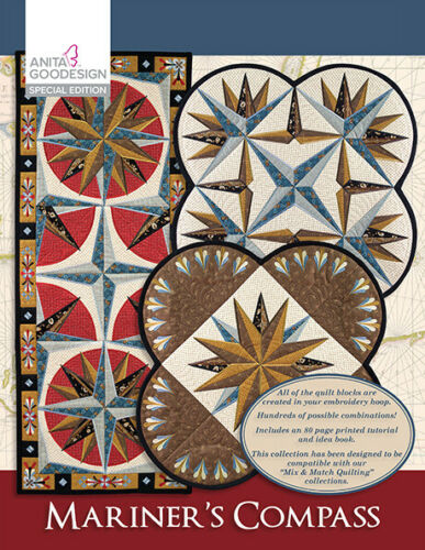 Mariner's Compass Special Anita Goodesign Embroidery Machine Design CD CD ONLY