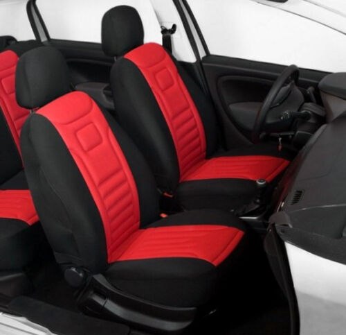 2 RED HIGH QUALITY FRONT CAR SEAT COVERS PROTECTORS FOR PEUGEOT 108