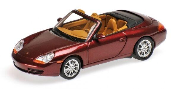 Porsche 911 Cabriolet 996 Red Metallic 1998 1 43 Model MINICHAMPS