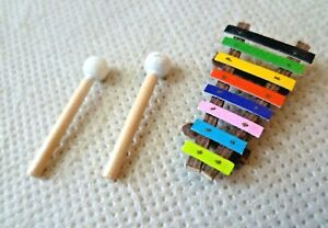 Collectable-Dolls-House-Accessories-Wooden-Toy-Colourful-Xylophone