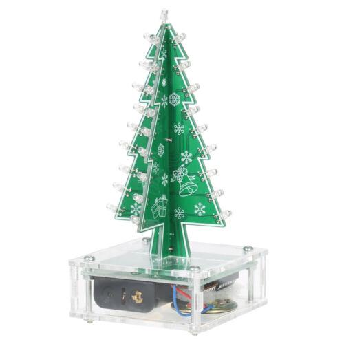 DIY Colorful LED Light Acrylic Christmas Tree with Music Electronic Kit P1B2