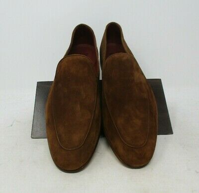 Neiman Marcus Cognac Suede Loafers size