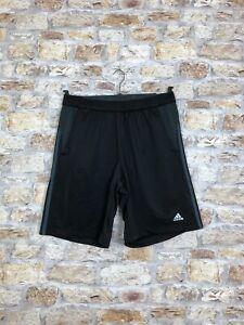 Adidas-Vintage-retro-casual-schwarz-Polyester-Shorts-Climalite-Gr-Herren-Medium