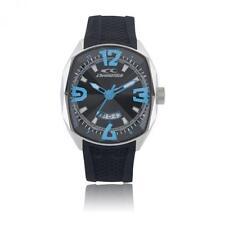 Orologio Uomo CHRONOTECH FORCE RW0049 Silicone Nero Blu Azzurro NEW DD