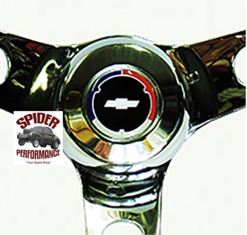 "58-63 Impala Biscayne Bel Air steering wheel CLASSIC BOWTIE GLOSSY GRIP 13 1//2/"""