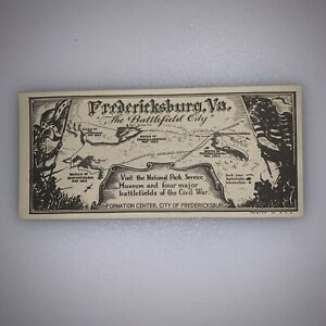 Fredericksburg Civil War Battlefield City VA Information National Park Paper