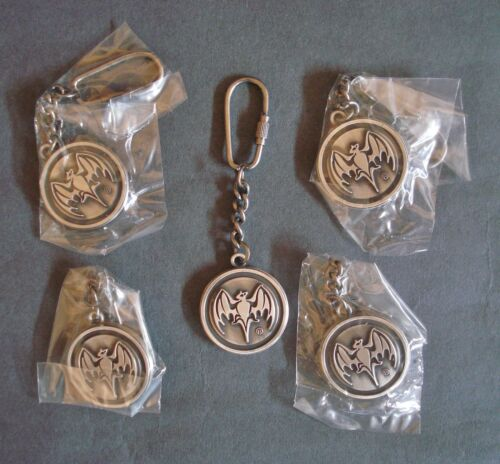 5 Bacardi Rum Metal Embossed Keyrings Beer Pub Home Bar New Unused BNIB