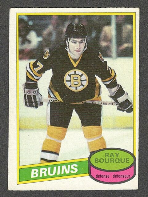 1980-81 RAY BOURQUE #140 ROOKIE OPC ** HALL OF FAME Star NHL Hockey Card KEY RC