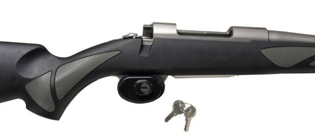 NEW Rifle & Shotgun Trigger Lock - Gun Security, Key Lock, Universal Size Safe