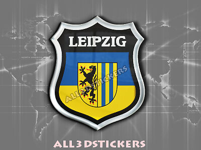 Sticker Emblem 3d Embossed Flag Leipzig All The Flags Of The World Ebay
