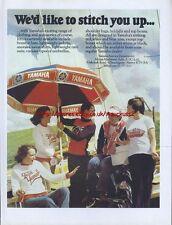 Yamaha Clothing Motorcycle 1979 Magazine Advert