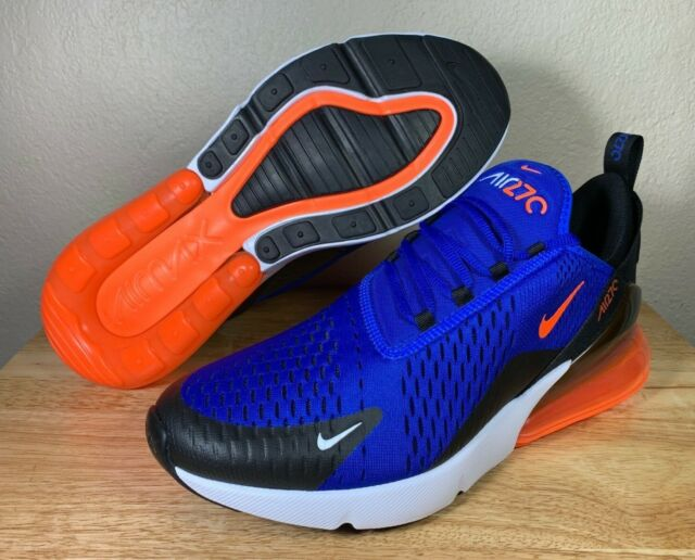 Nike Air Max 270 Little Kids AO2372-401 Racer Blue Crimson Shoes Youth Size 12