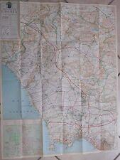 Vecchia pianta cartina della provincia di CASERTA 1:100.000 87x68 cm mappa del