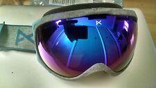 anon Hawkeye Goggles Grey Frame Blue Solex Lens Burton New Rare!!!