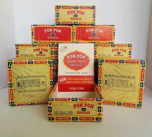 Set-of-2-Vintage-Pom-Pom-Operas-Cigar-Boxes-Tobacco-Crafting-Free-Shipping