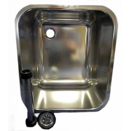 GASTROBECKEN+ STANDROHR VENTIL CNS 400 x 340 x 250 mm THEKE BAR SPÜLBECKEN