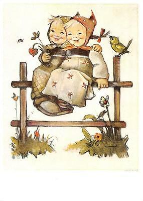 """vintage unused  greeting cards  ARS SACRA Hummel /"""" hummel child/""""1686/"""""""