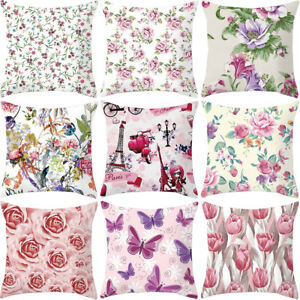 Am-BL-HK-Colorful-Rose-Flower-Pillow-Case-Cushion-Cover-Home-Car-Square-Decor