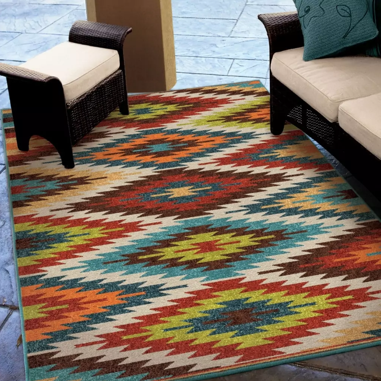 8x11 Southwestern Area Rug Indoor Outdoor Carpet Style Living Room Decor 8 X 11 For Sale Online Ebay