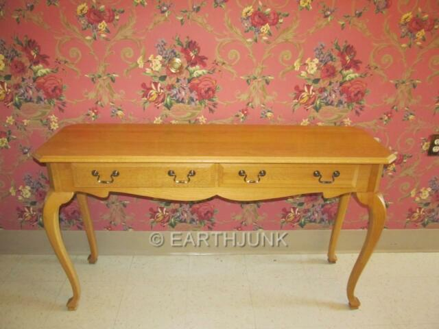 Ethan Allen Sofa Table Canterbury Oak Queen Anne Legs 28 9419 Finish 278