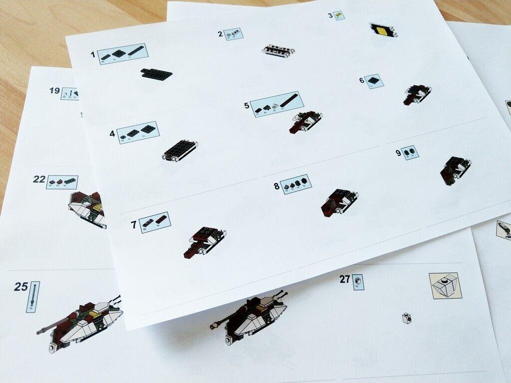 LEGO LEGO LEGO Star Wars Mini AT-TE Walker inkl. Anleitung - Custom Set - sehr selten 9a1b96