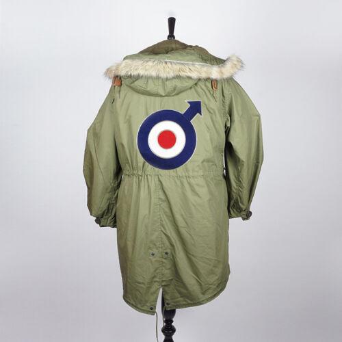 PREMIUM EXTRA LARGE RETRO ARROW MOD TARGET RAF ROUNDEL SEW ON PARKA PATCH