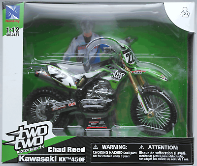 Aktiv Newray - Kawasaki Kx450f 2015 Twotwo Motorsports / Chad Reed 1:12 Neu/ovp Exquisite (In) Verarbeitung