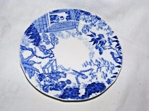 ANTIQUE-ROYAL-CROWN-DERBY-BLUE-amp-WHITE-MIKADO-PORCELAIN-SIDE-PLATE-6-034