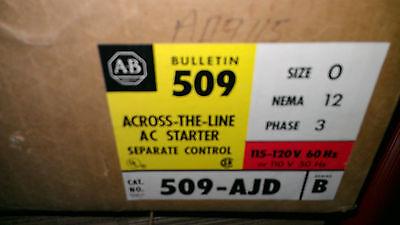 New Allen Bradley 509-AJD  AC starter in enclosure size 0 3 phase Nema 12