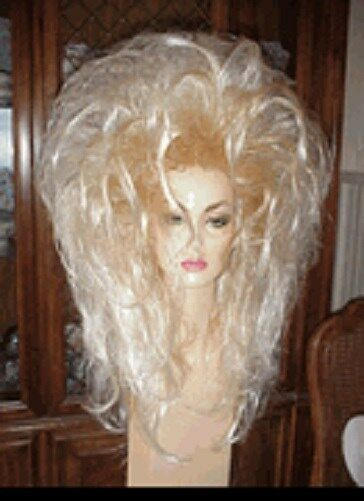 SIN CITY WIGS LONG SEXY FROSTED BLONDE TEASED LAYERS SPIKY BIG 80S HAIR STRAIGHT