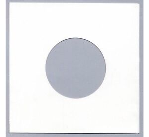 """100 7"""" / 45 rpm PAPER RECORD SLEEVES COVERS - WHITE - NOW 10% THICKER !"""