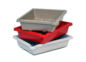 "Set of 3 AP Darkroom Developing Dish 7x5"" (13 x18cm) Red/White/Beige"