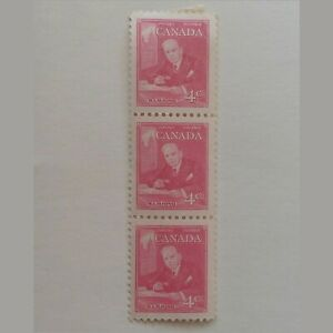 THREE PRIME MINISTER W.L.M. KING 1951 STAMPS