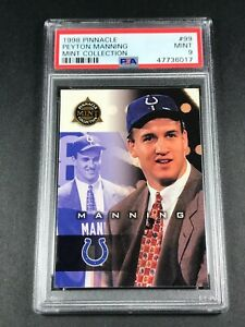 PEYTON MANNING 1998 PINNACLE #99 MINT COLLECTION ROOKIE RC PSA 9 COLTS NFL HOF