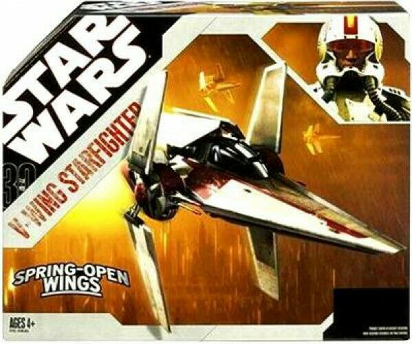Star Wars 2007 30th Aniversario V-wing Fighter Figura De Acción Vehículo