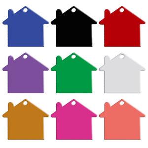 20pcs-Blank-Personalised-Dog-Tags-House-Shape-Custom-Pet-Cat-Collar-Name-ID-Tag