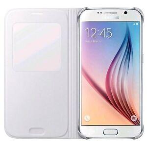 Housing-cover-ORIGINAL-SAMSUNG-FLIP-EF-CG920-WHITE-for-Galaxy-S6-G920-SM-G920