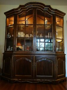 Image Is Loading John Widdicomb Hutch Breakfront China Cabinet All Original