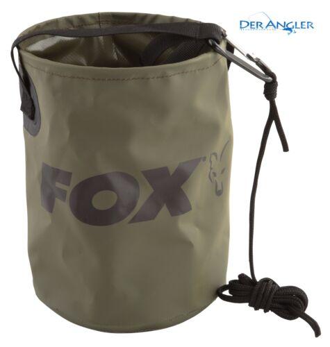 Fox colapsible water bucket falteimer 4,5 L capacité avec corde et Clip ccc040